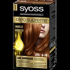 Coloration Oleo Suprême SYOSS, cuivre profond n°6-76