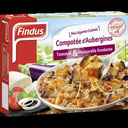 Compotée d'aubergines, tomates & mozzarella fondante FINDUS, 400g