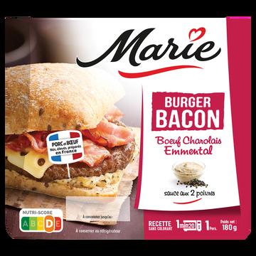 Marie Burger Charolais Bacon Emmental Sauce 2 Poivres Marie, 180g