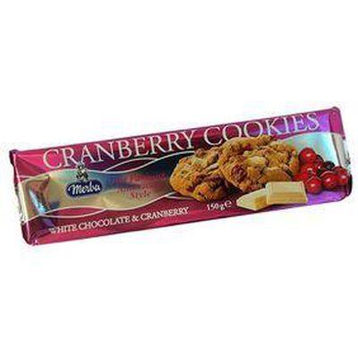 Cookies aux Cranberry, barquette de 150g, MERLA