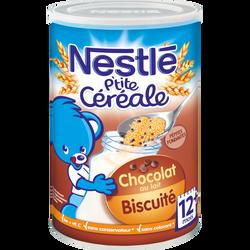 P'tite céréale au chocolat au lait biscuitée aux pépites fondantes NESTLÉ, dès 12 mois, boite de 400g