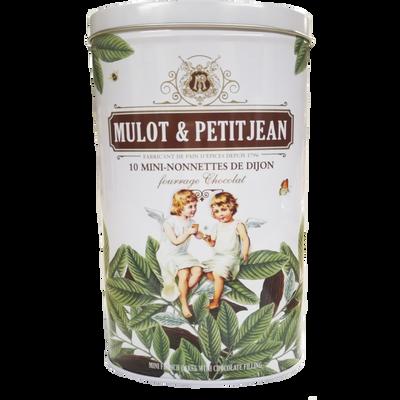 Mini nonnettes au chocolat MULOT ET PETITJEAN, x10 boite fer