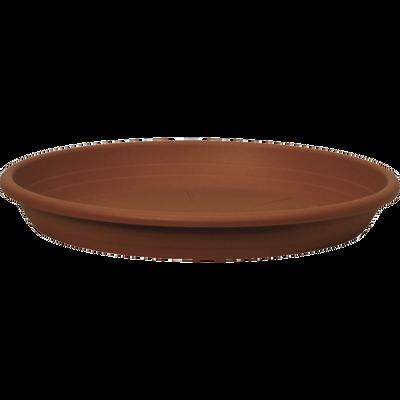 Soucoupe CILINDRO, diametre 42cm, en plastique, terre cuite