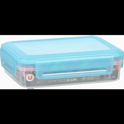 Boîte hermétique U MAISON, rectangulaire, basse, à clips, 1,1 litres