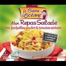 Mon repas salade de mini farfalles poulet et tomates séchées LA CUISINES D'OCEANE, 280g