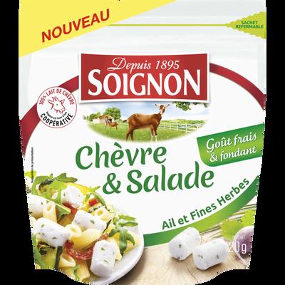 Fromage lait pasteurisé de  chèvre et salade ail et fines herbes,SOIGNON,120g