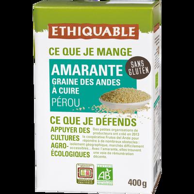 Graines d'amarante pérou bio ETHIQUABLE, 400g