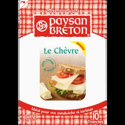 Chèvre au lait pasteurisé PAYSAN BRETON, 50% de MG, 10 tranchettes, 160g