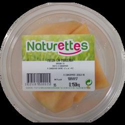 Melon morceaux, NATURETTES, barquette, 150g