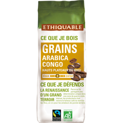 Café grains Congo Bio ETHIQUABLE, 250g