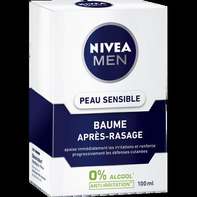 Baume après-rasage peaux sensibles NIVEA FOR MEN, flacon 100ml
