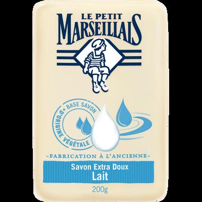 Savon extra doux au lait LE PETIT MARSEILLAIS, 200g