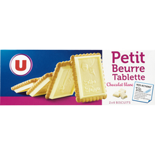 LU Petit Beurre Tablette De Chocolat Blanc U, Paquet De 150g