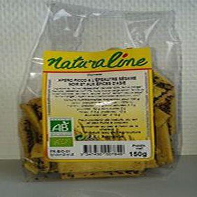 Apéro Picco à l'épeautre sésame noir et aux épices d'Asie Naturaline Bio 150g