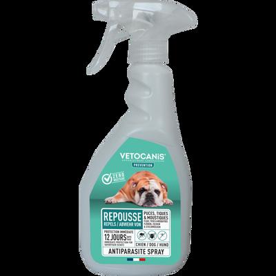 Spray antiparasitaire pour chiens VETOCANIS, 500ml