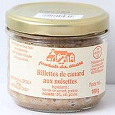 Rillettes de canard aux noisettes, Produits du causse, 180g