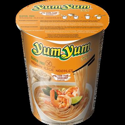Soupe nouilles cup arôme crevette sans gluten YUM YUM, bol de 66g