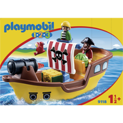 Playmobil® Playmobil 1.2.3 - Bâteau De Pirates - 9118 - Dès 18 Mois