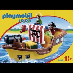 Playmobil 1.2.3 - Bâteau De Pirates - 9118 - Dès 18 mois