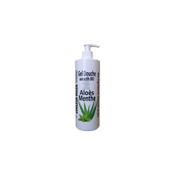 Gel douche à l'aloès menthe bio régénérant et hydratant COULEUR SOLEIL, 500ml