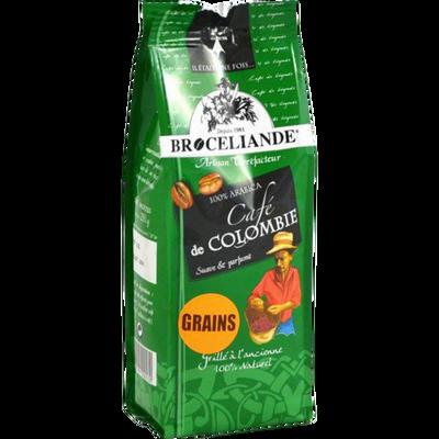 Café grain 100% arabica Colombie BROCELIANDE, 250g