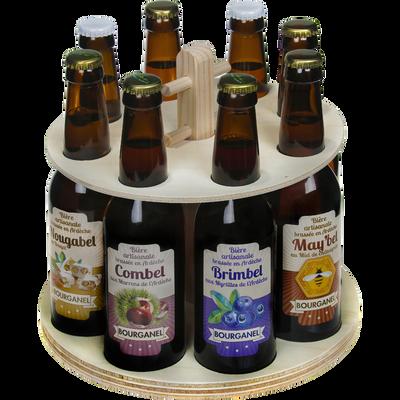 Manège de bières BOURGANEL, 8 bouteilles de 33cl