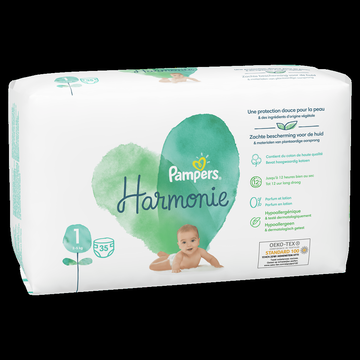 Pampers Couches Pampers Harmonie 3-4kg Geant Taille 1 X35