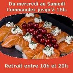 Sobo Ours,10 sushi saumon cheese ail des ours séchée,SUSHI MONT BLANC