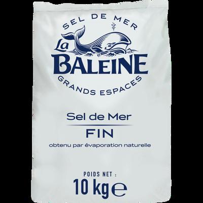 Sel fin de mer LA BALEINE, sachet de 10kg