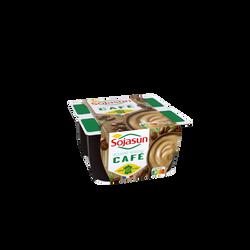 Dessert au soja au café enrichi en calcium SOJASUN, 4 unités de 100g
