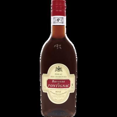 Vin rosé Pineau des Charentes Baronne de Fontignac U, bouteille de 75cl