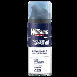 Mousse à raser aux plantes actives pour peaux fragiles WILLIAMS, 200ml