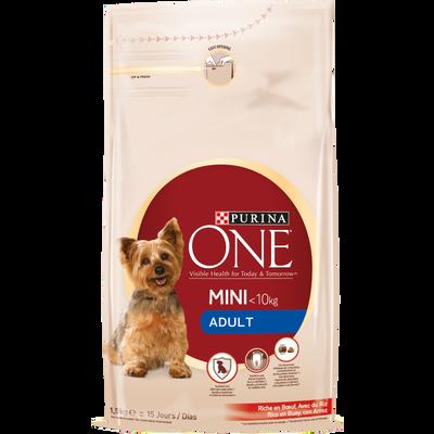 Aliment pour petit chien au boeuf et au riz PURINA ONE, sac de 1,5kg