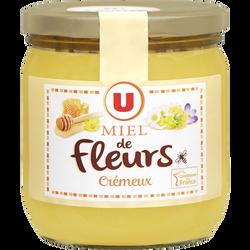 Miel crémeux Mille fleurs U, pot en verre de 500g