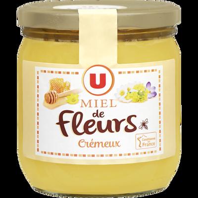 Miel crémeux Mille fleurs U pot en verre 500g