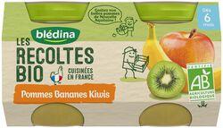 Les récoltes Bio Pomme/Banane/Kiwi X 2X130g