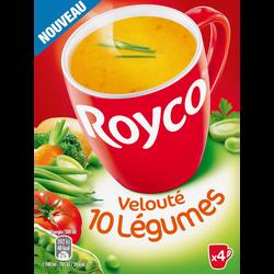 Velouté 10 légumes ROYCO, paquet de 4 sachets soit 80cl