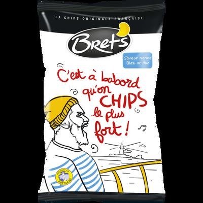 Chips ondulées saveur de la mer BRET'S, 125g