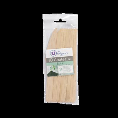 Couteaux U MAISON, en bois, 10 unités