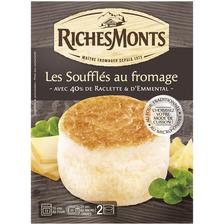 Spécialité fromagère au lait pasteurisé soufflé au fromage RICHESMONTS, 15% de MG, 2x80g
