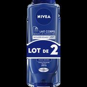 Nivea Lait Nourrissant Sous La Douche Pour Peaux Sèches Nivea, 2 Flacons De250ml
