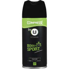Déodorant compressé homme Boost Sport,BY U,100ml
