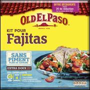 Old El Paso Kit Pour Fajitas Aux Épices Douces Sans Piment Old El Paso, 478g