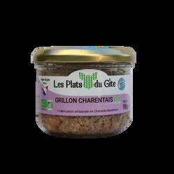 Grillon charentais bio LES PLATS DU GITE, bocal 180g