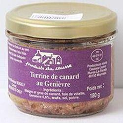Terrine de canard au Genièvre, Produits du causse, 180g