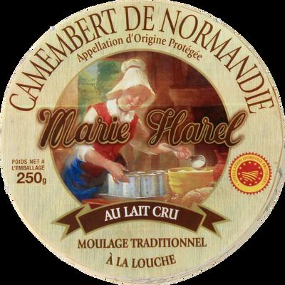 Camembert, AOP, lait cru, 22%mat.gr, MARIE HAREL, 250g