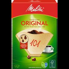 Filtres à café grand arôme n°101 MELITTA Original, 40 unités