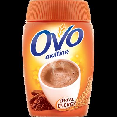 Poudre chocolatée instantanée au malt et céréales OVOMALTINE, 400g