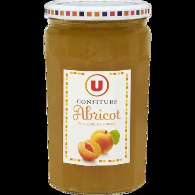 Confiture d'abricot 50% de fruits U, 750g