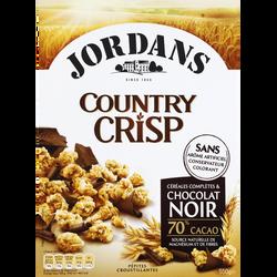 Céréales Country Crisp au chocolat noir JORDANS, 550g